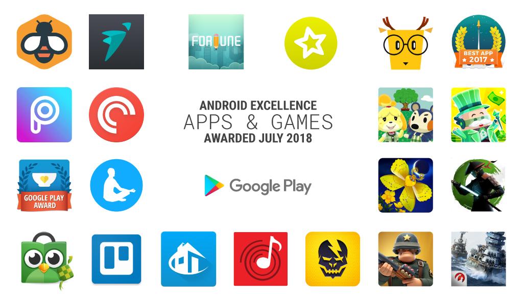Google выбрала лучшие приложения за третий квартал 2018 года