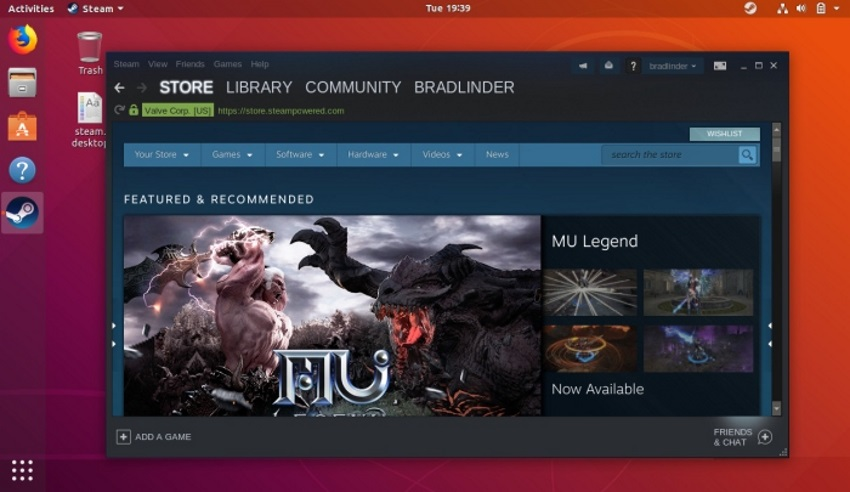 Steam для Linux позволит играть в некоторые игры для Windows