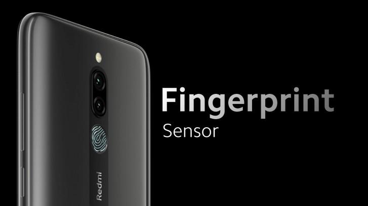 Датчик отпечатков пальцев смартфона Redmi 8
