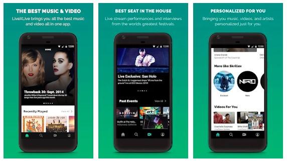 Приложение для прослушивания живой музыки LiveXLive